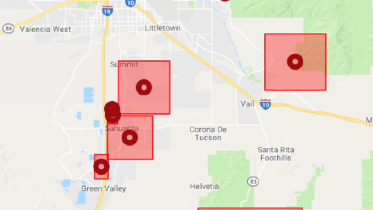 More Than 12 000 Tep Customers Without Power Friday Night