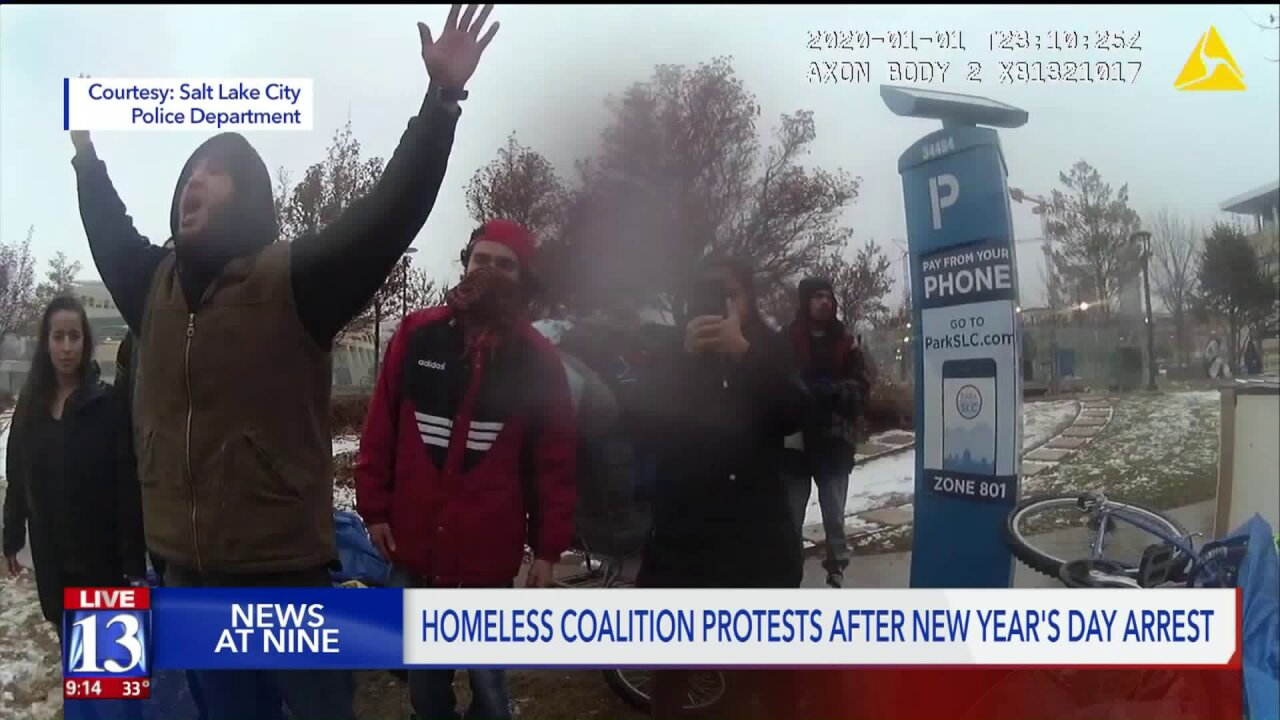 SLC Police release bodycam footage of arrest made at homeless protest