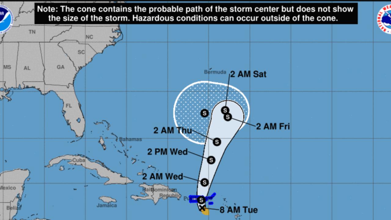 Tropical Storm Karen treks toward Puerto Rico and the US ...
