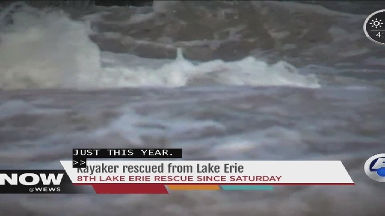 Kayaker pulled from water in Bay Village