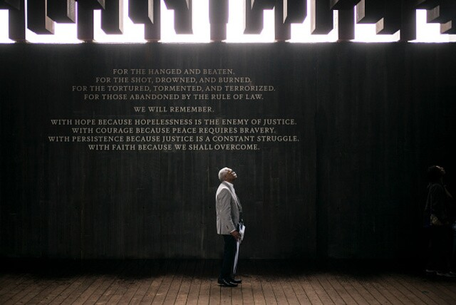 A chilling new memorial for lynching victims has opened in Alabama