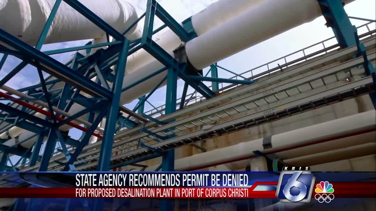 State agency recommends port's desalination plant be denied