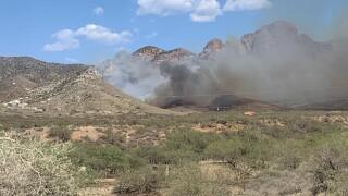 "The ""Heavy Fire"" is burning in the Santa Rita Mountains east of Sahuarita."