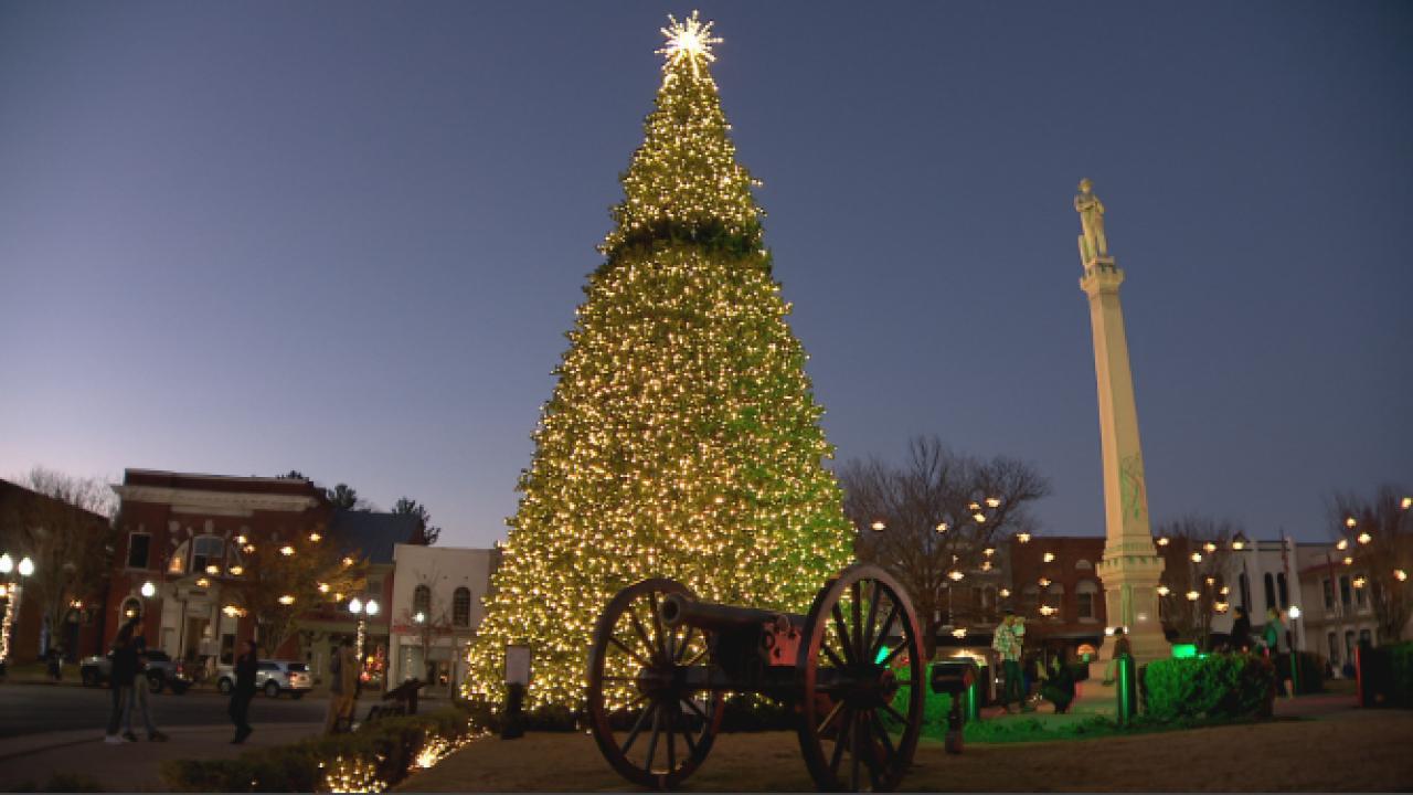 Franklin virtual tree lighting