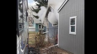 Great Falls Fire Rescue responding to garage fire (April 12, 2021)