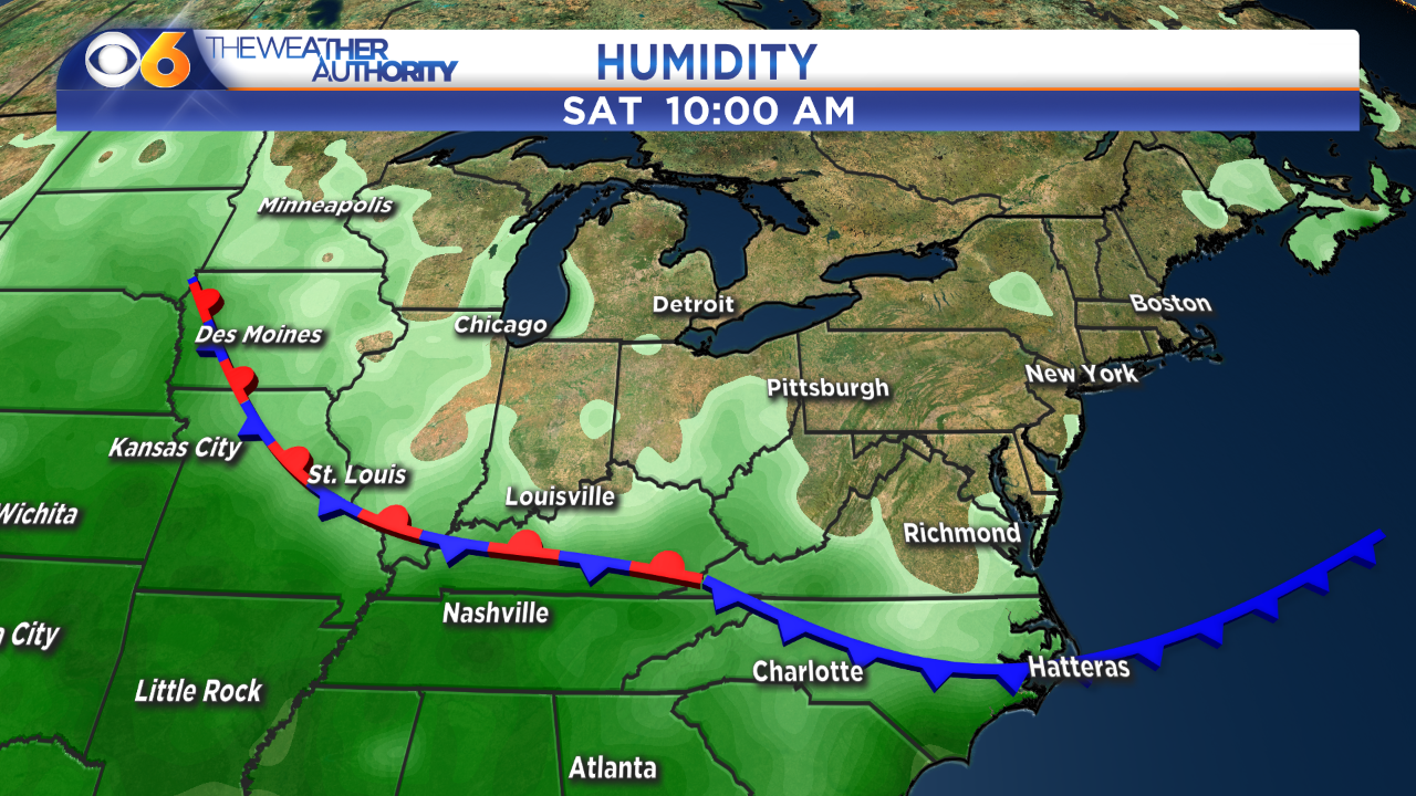 How long 'much more comfortable' weather will stick around before humidity will jumpsignificantly
