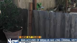 Man accused of break-in has long criminal history