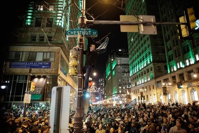 Photos: Eagles fans take to streets of Philadelphia to celebrate Super Bowl win