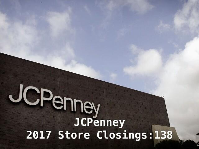 18 major retailers closing stores in 2017