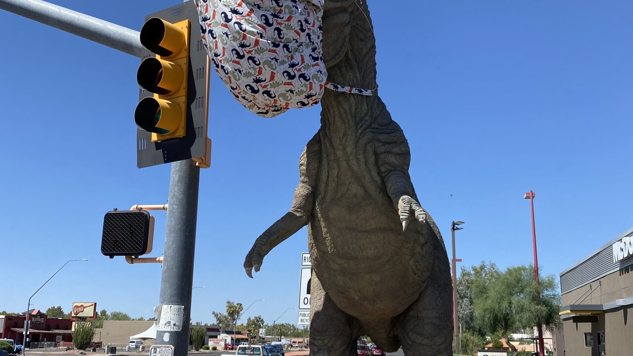 T-rex at McDonald's on Tucson's east side