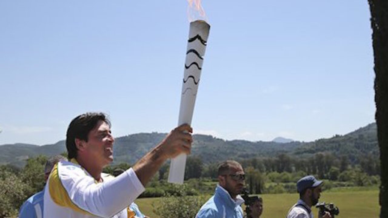 Torch begins 3-month relay through Brazil