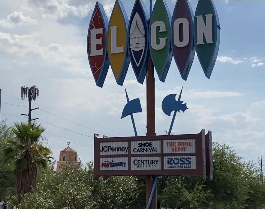El Con Water Tower across from El Con Center