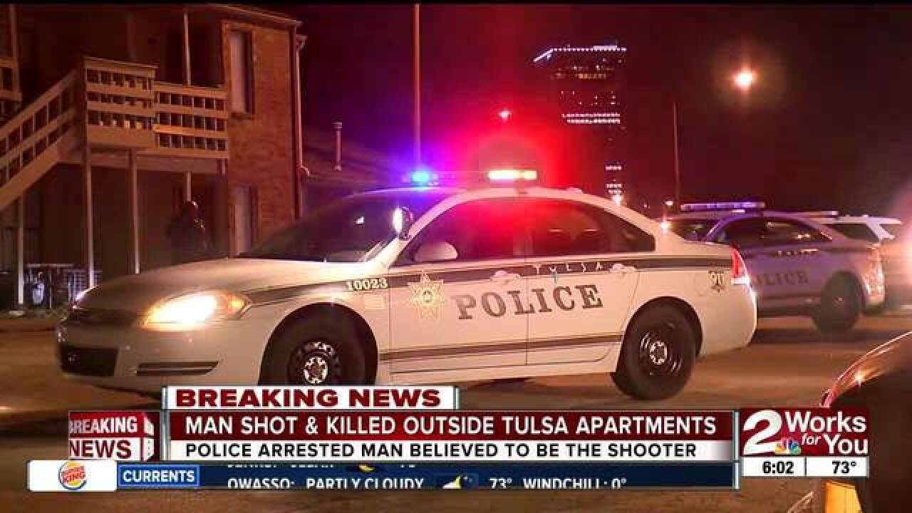 One in custody after deadly shooting in Tulsa