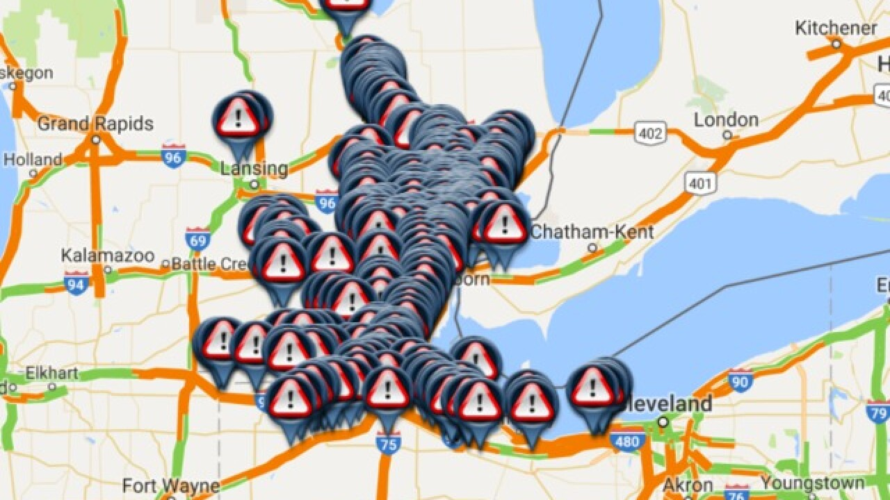 Metro Detroit Traffic Snowy Conditions Causing Messy Roads