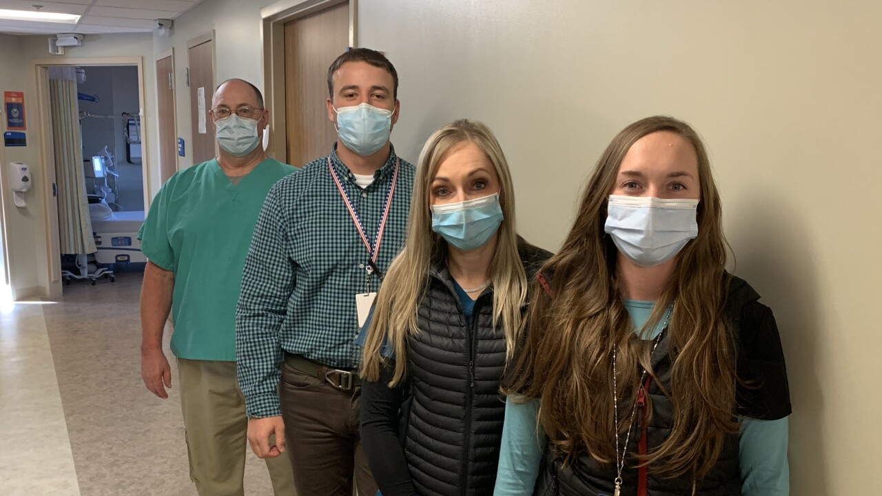 Montana VA critical care staff