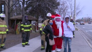 "Great Falls first-responders hosted a ""reverse"" holiday parade"