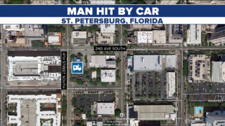 man hit by car St Petersburg March 17 2019