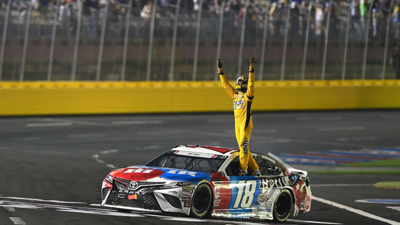 Kyle Busch blows past field for first Charlotte points win