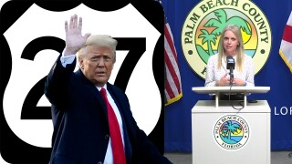 Donald Trump, Melissa McKinlay, US Highway 27 logo