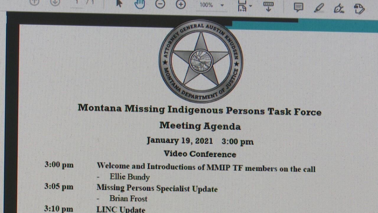 MMIP Task Force Agenda