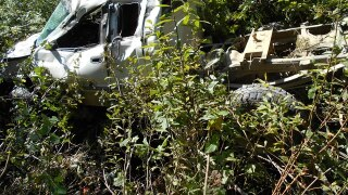 Superior man survives crash after his vehicle rolls down hillside