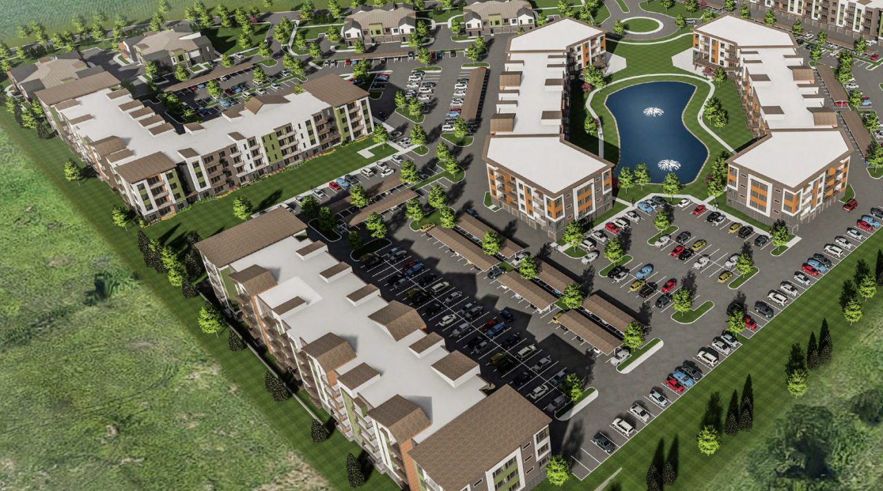 Renderings of development provide to City Council, shared at public meeting 8/3/20
