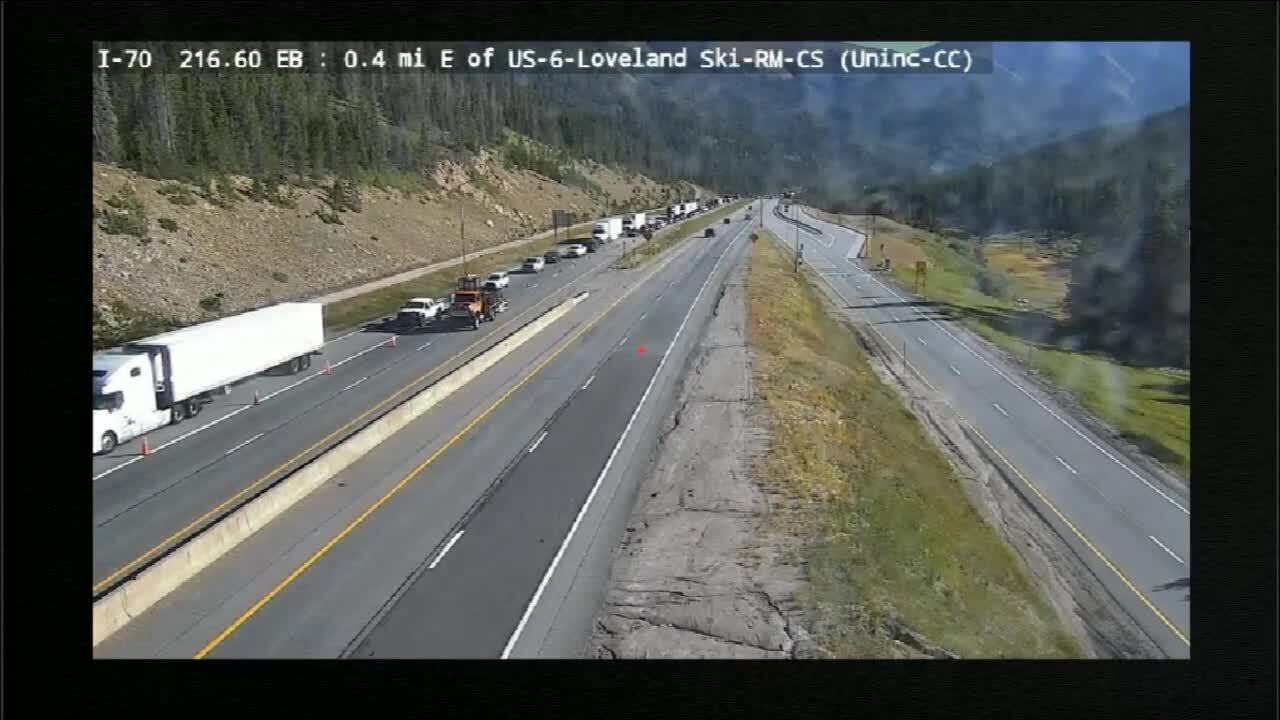 Traffic at Loveland Pass_Sept 4 2020