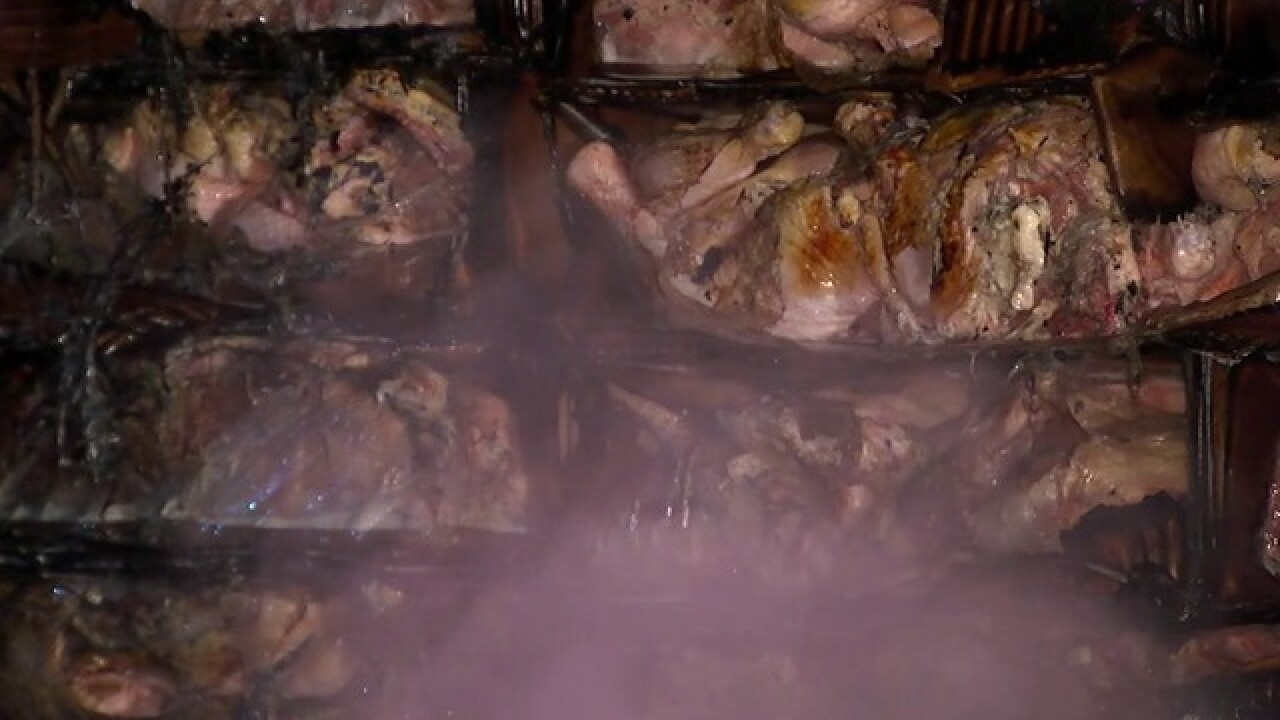 Semi blaze flame-broils 40K pounds of chicken