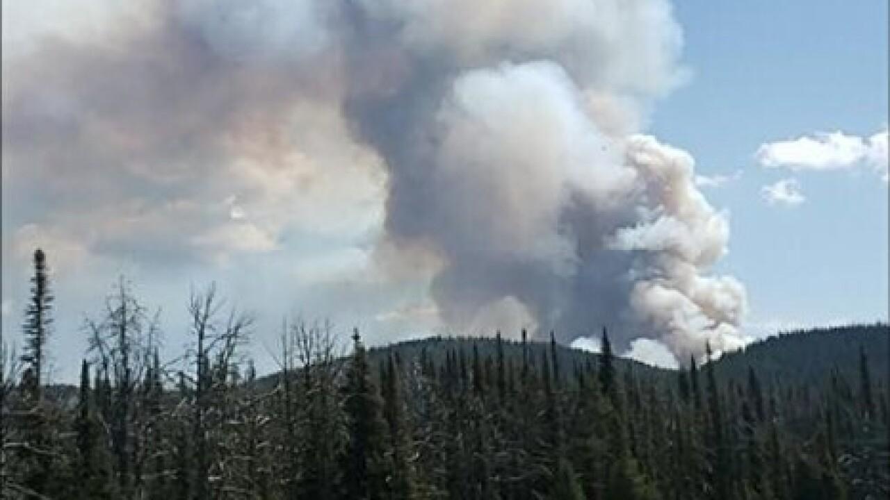Fire courtesy Helena-Lewis and Clark National Forest