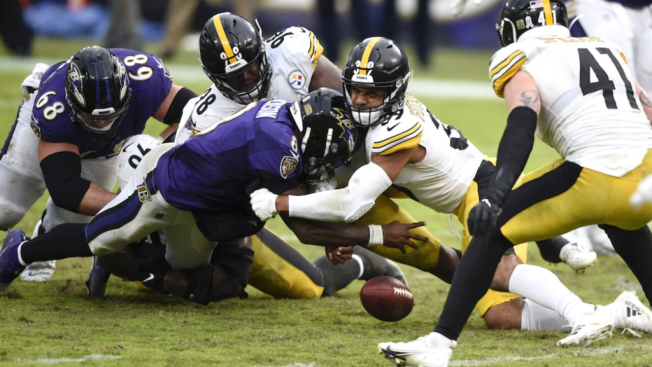 ESPN: Ravens and Steelers game moved to Wednesday