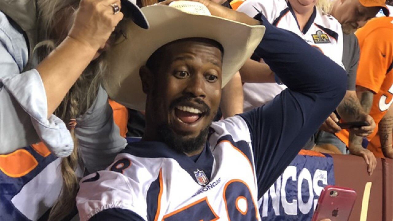 Von Miller signs off on Adam Jones signing: 'We got dogs'