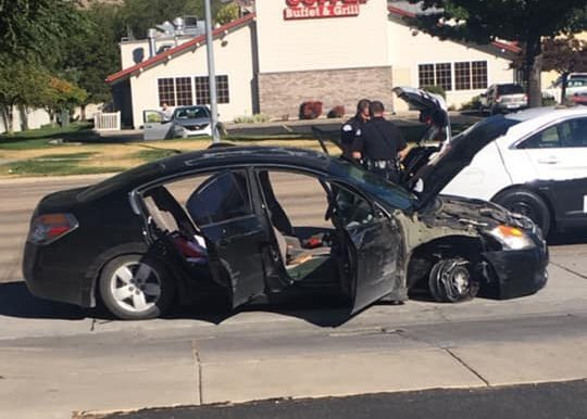 Photos: Juveniles significantly damage car while leading police on chase throughOgden