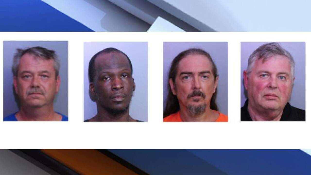 Sheriff: Four men arrested for lewd acts in park