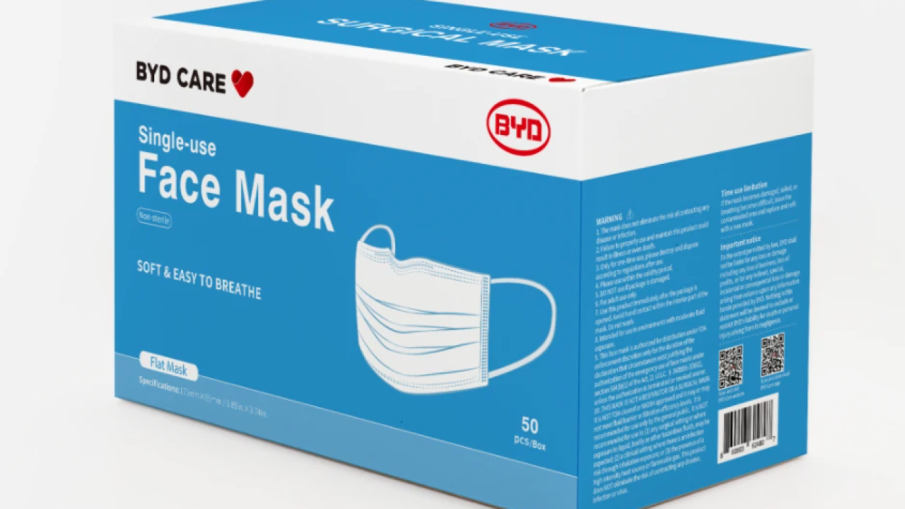 A 50-pack of disposable masks is just $14.99 right now at OfficeDepot.com