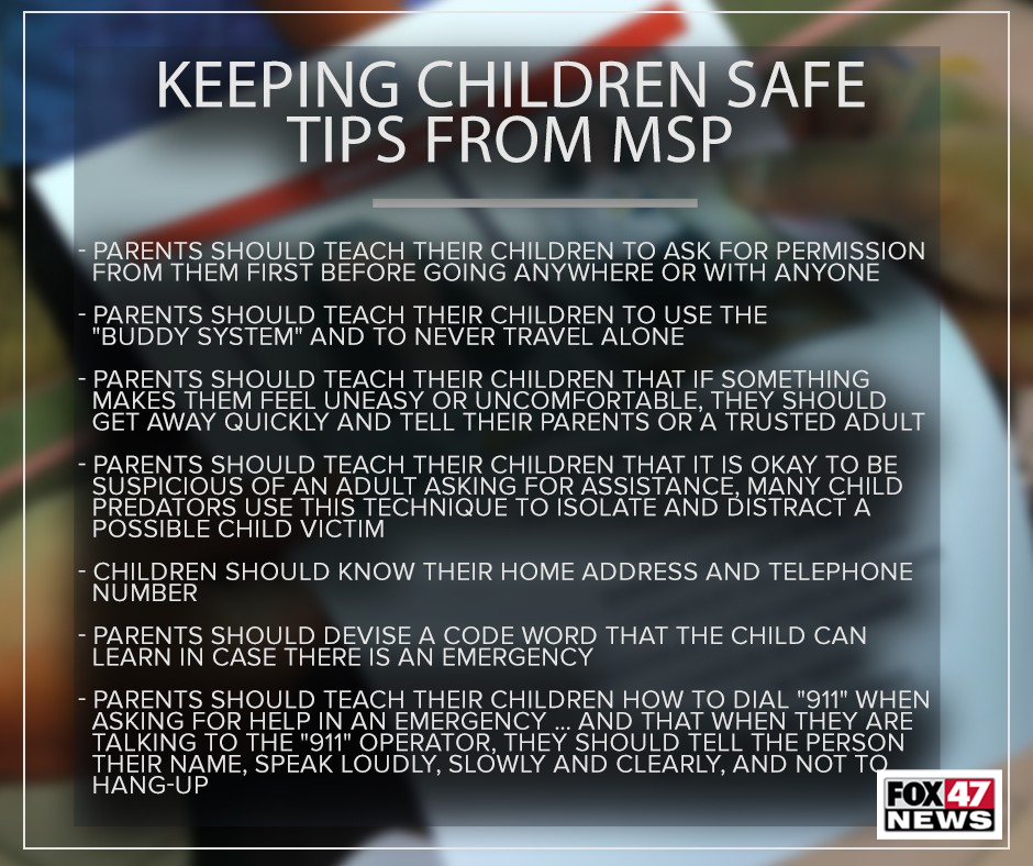 Keeping kids safe, tips from the Michigan State Police