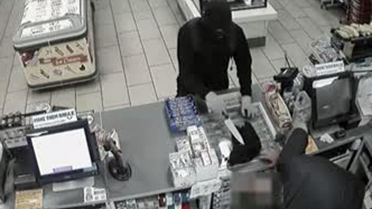 He came at a clerk with a knife but then things didn't go as planned