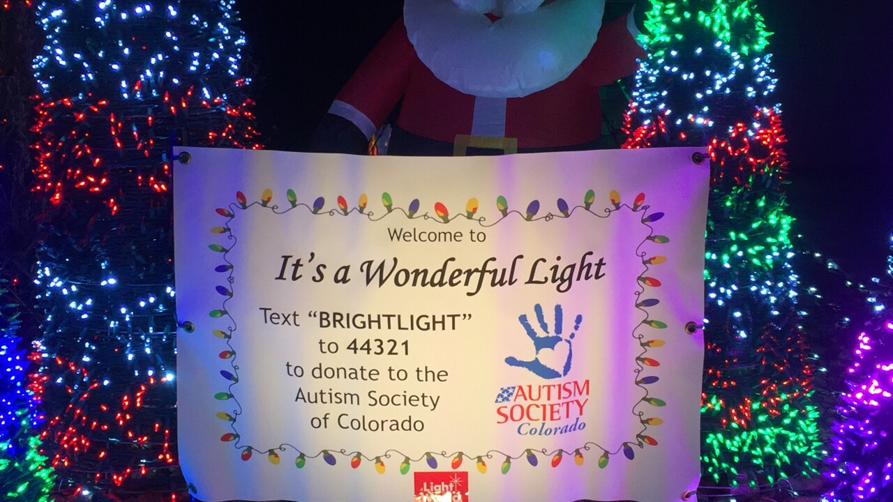 Colorado family uses Christmas light display to give back to autism organization
