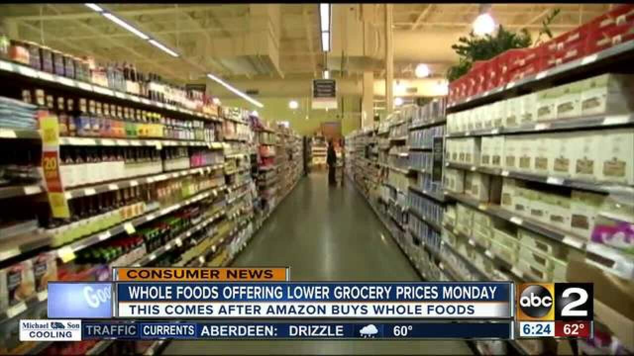 Amazon to cut prices on Whole Foods eggs, beef