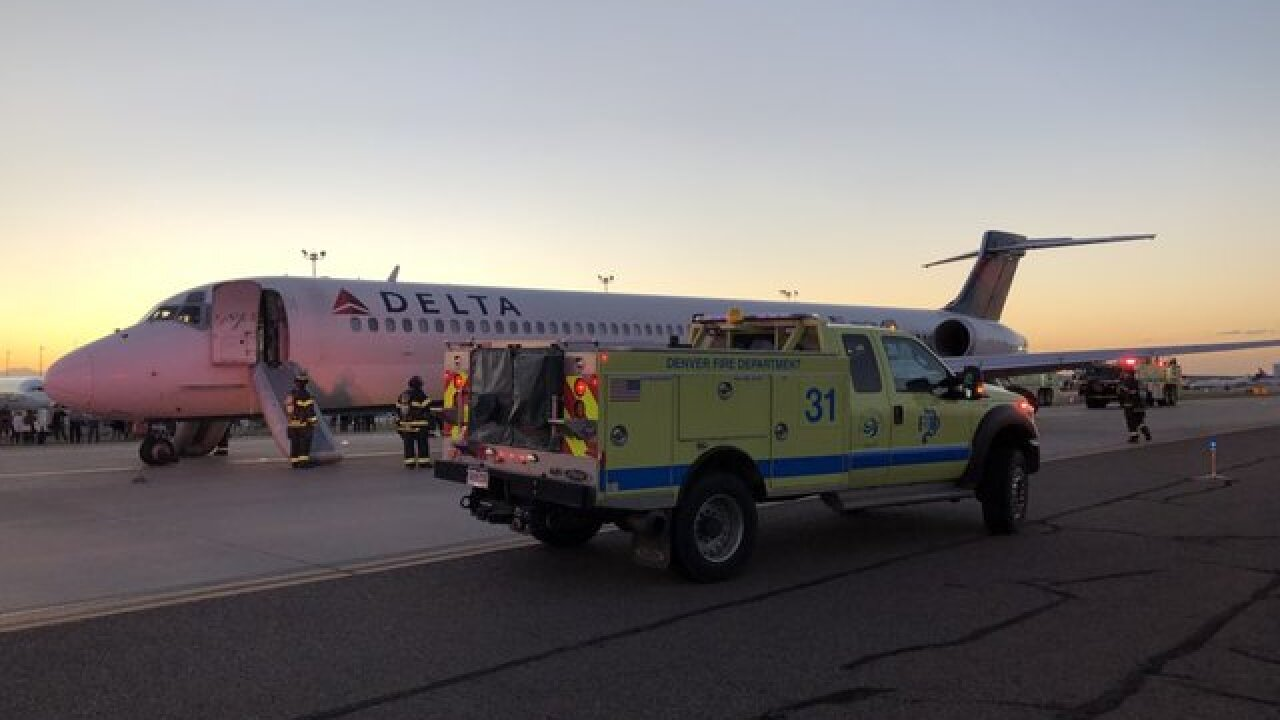 Delta flight evacuated upon landing in Denver