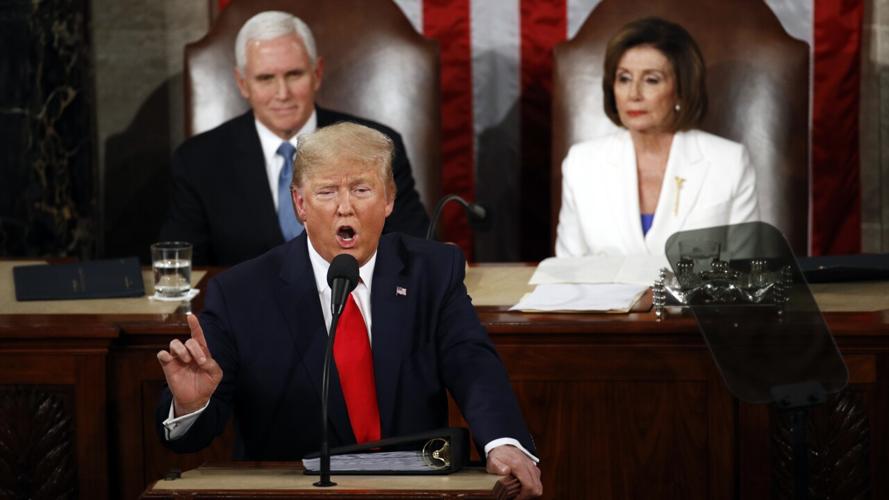Pelosi rips up Trump's script at the close of the State of the Union