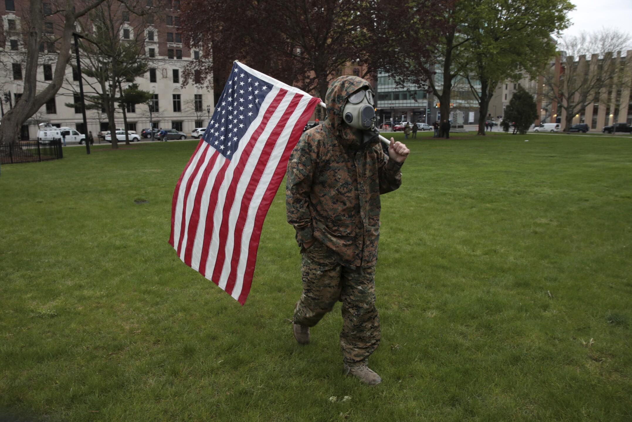 Virus Outbreak Michigan Protest