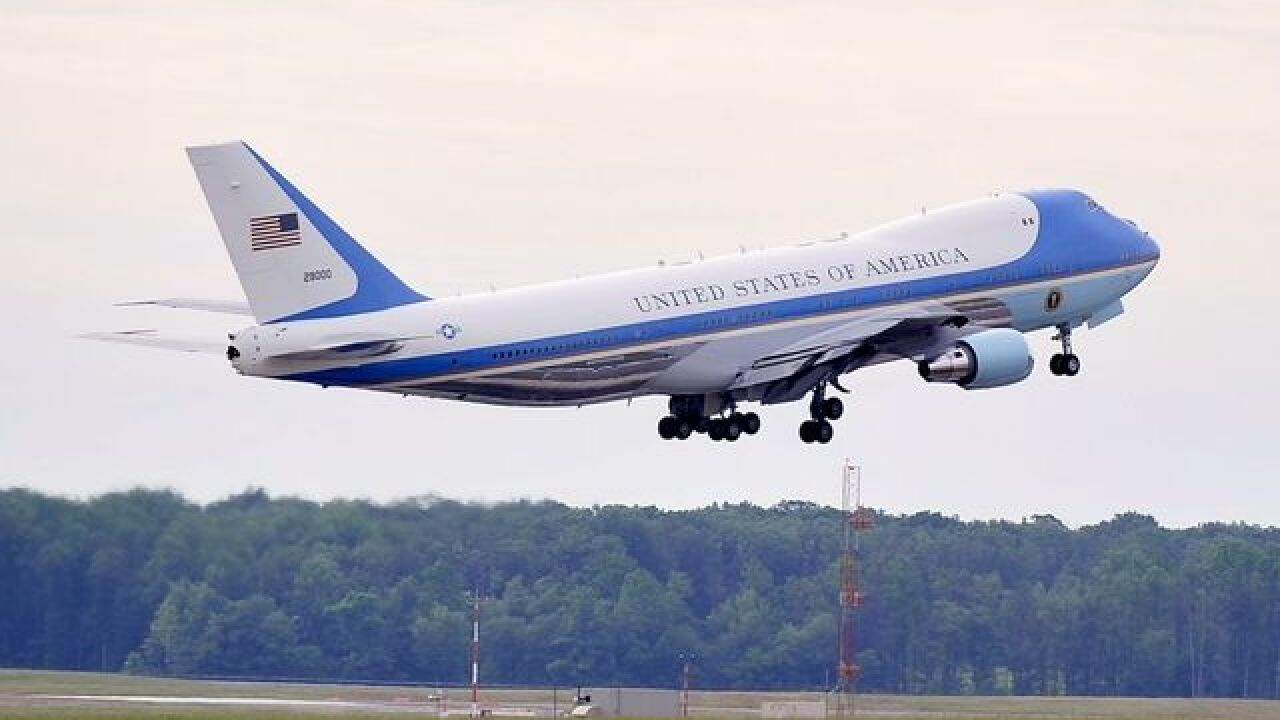President Trump confirms that the new Air Force One will be red, white and blue