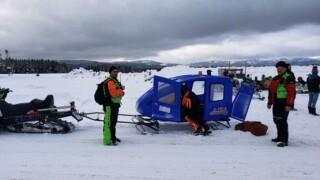 Girl injured on snowmobile near West Yellowstone