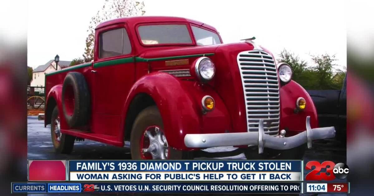Buttonwillow CHP finds stolen historic 1936 Diamond T truck
