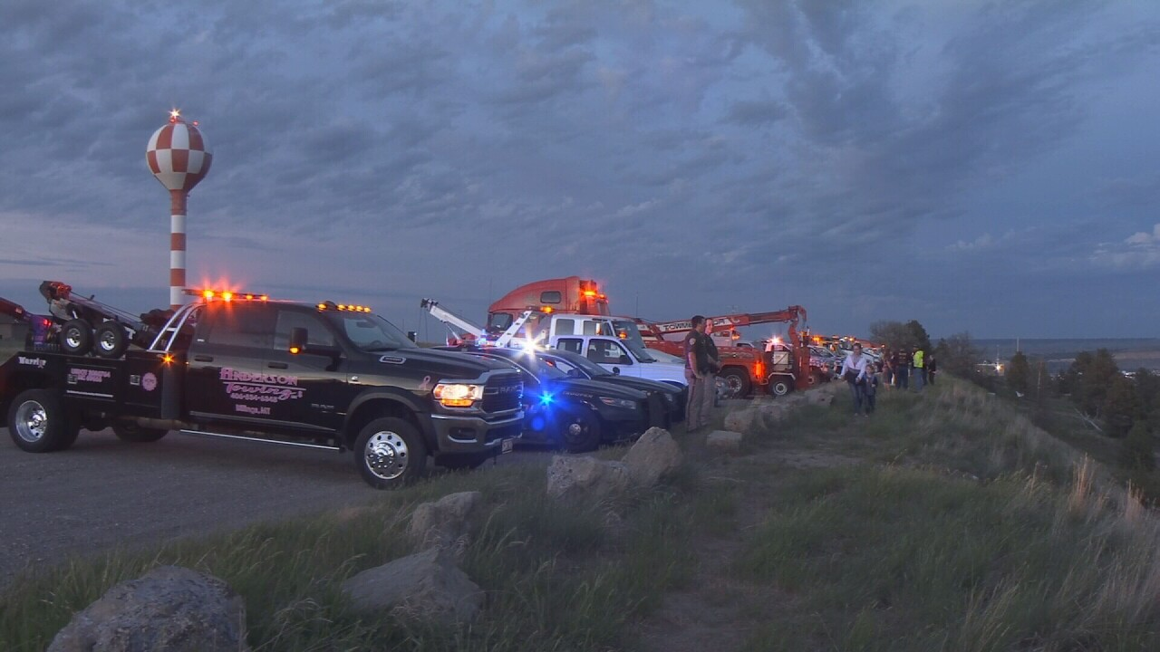Billings first responders light up the Rims for 2020 grads