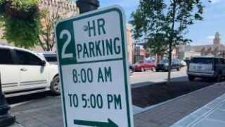 Parking sign in Franklin