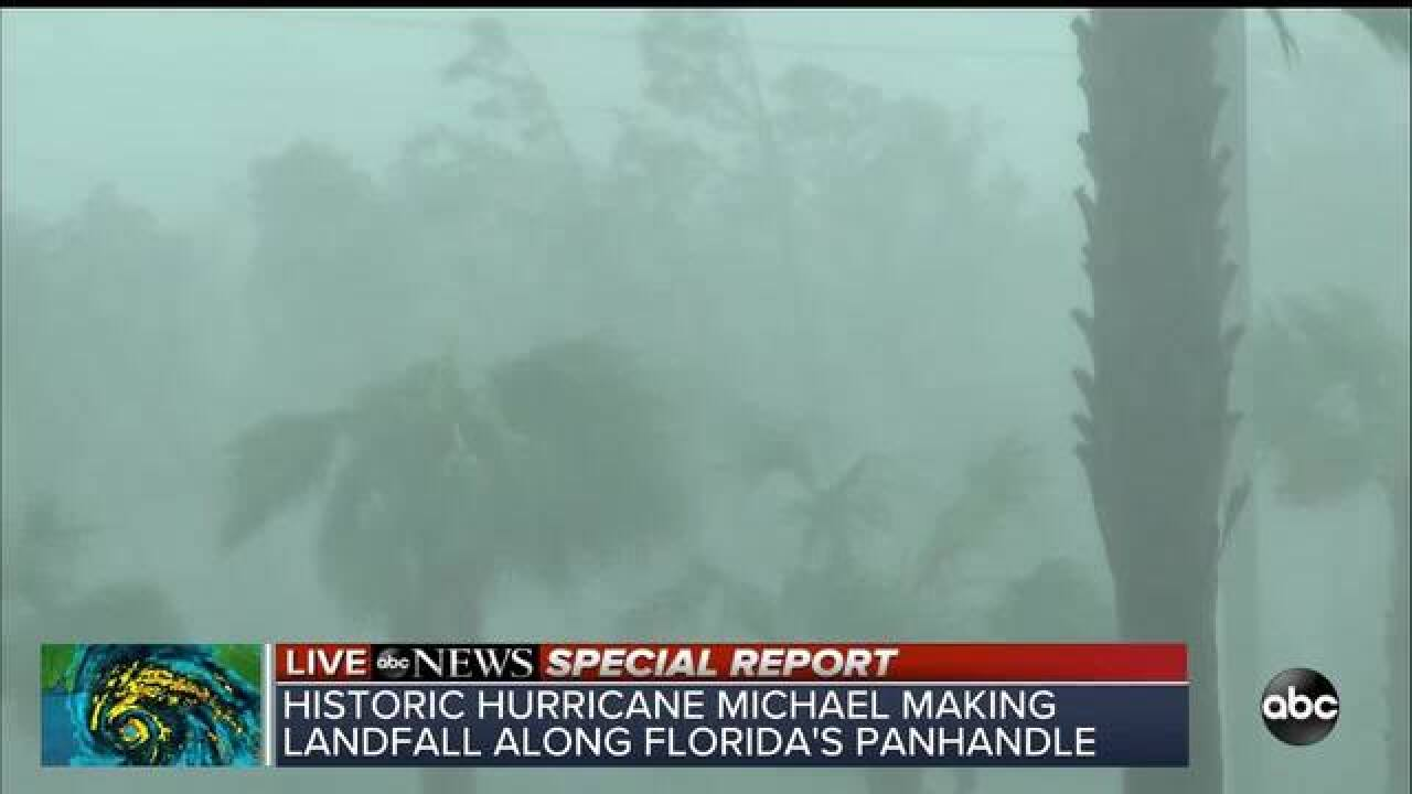Hurricane Michael makes landfall near Mexico Beach, Fla. with 155 mph winds