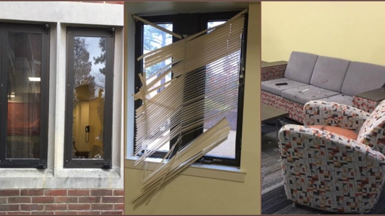 Deer smashes window at University of Richmonddorm