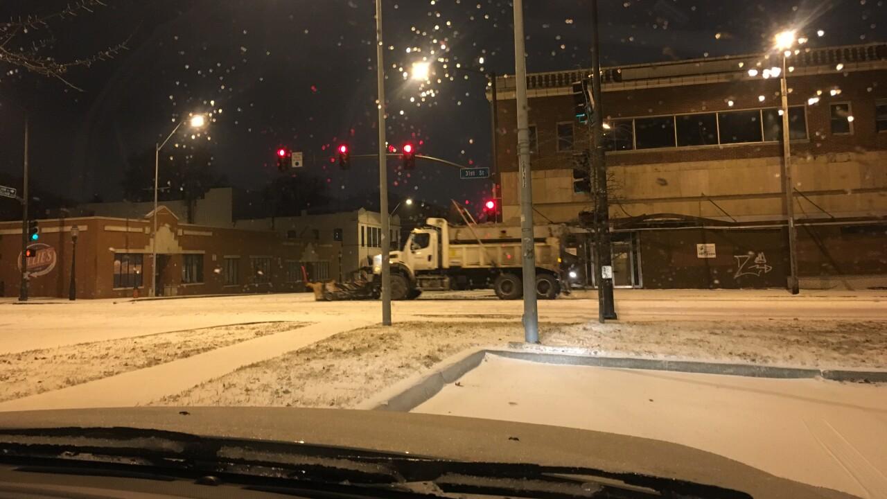 snow plow ice storm