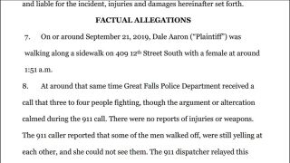Man files lawsuit alleging that officers used excessive force